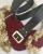 Santa Belt Pirate Belt Kilt Belt Black Leather Belt with Brass Buckle