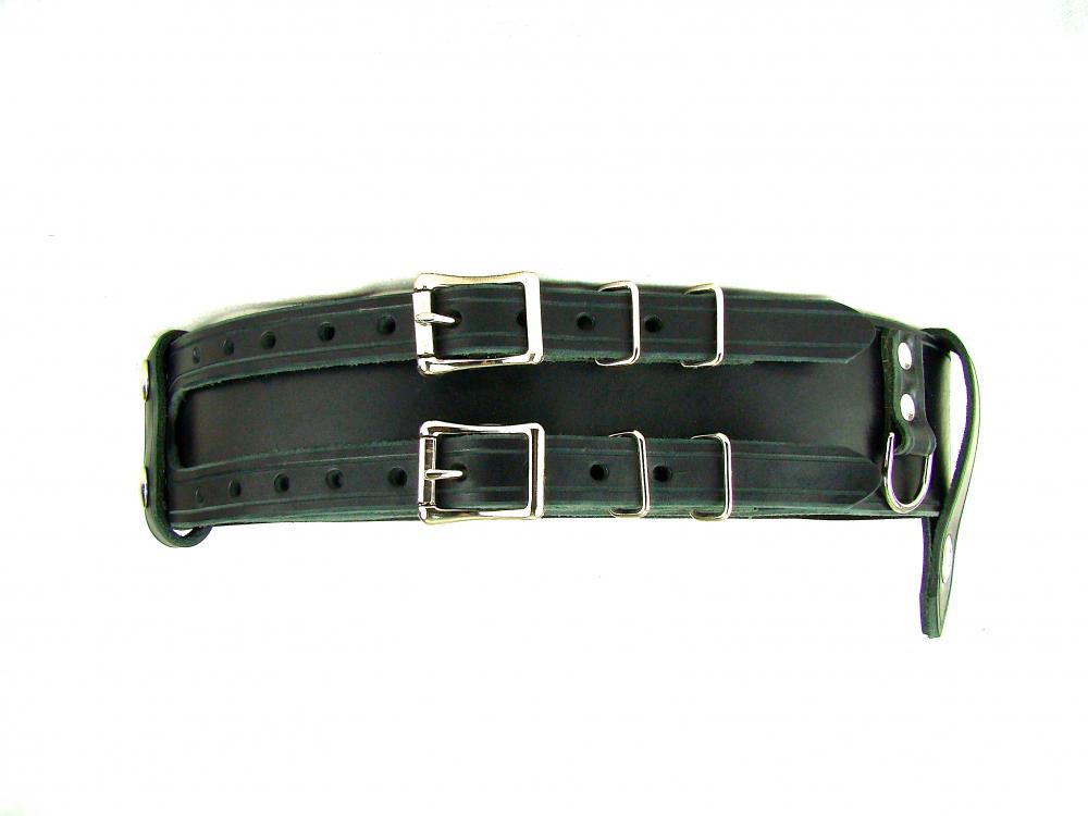 Kilt Belt Double Buckle Belt Black Leather D Ring Belt