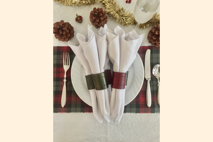 Red and Green Napkin Rings Made in America