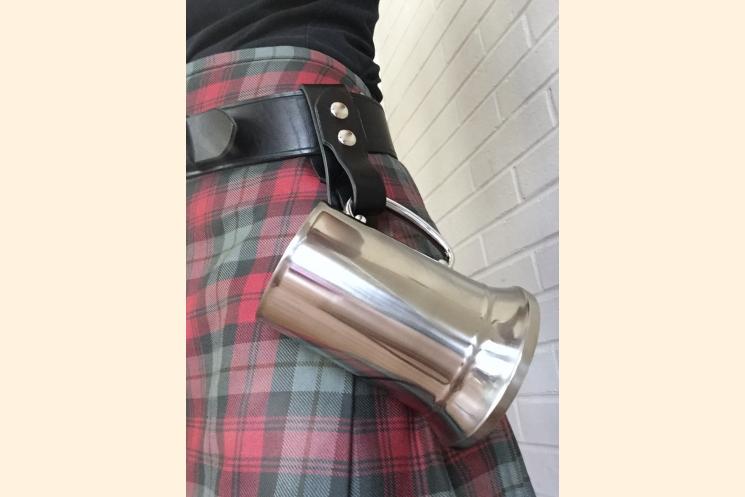 Black Leather Tankard Strap for Beer Mug