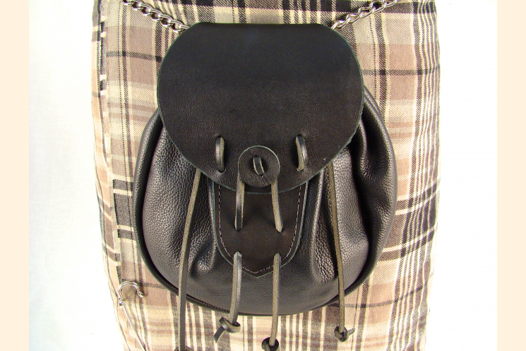 Sporran Rob Roy Sporran Black Leather Sporran