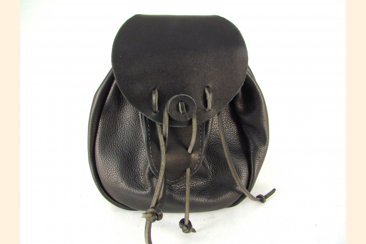 Sporran Rob Roy Sporran Black Leather Sporran