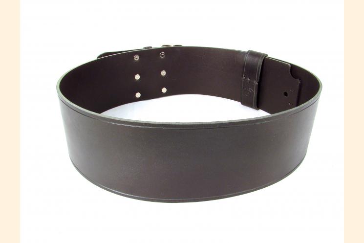 Kilt Belt Triple Buckle Belt Black/NP and  Back View