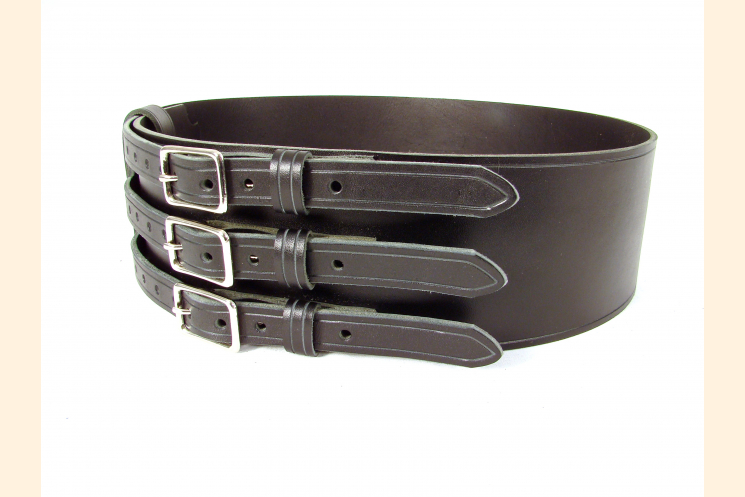 Kilt Belt Triple Buckle Belt Black/NP and  Right Front View
