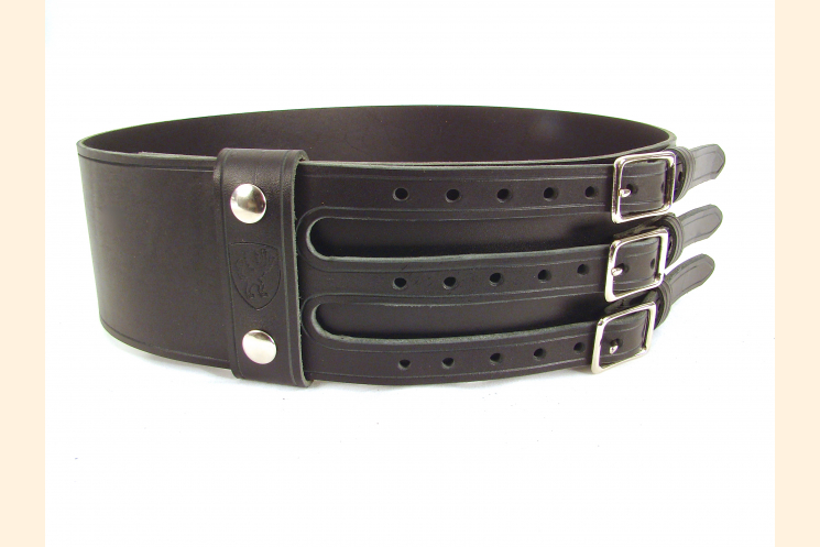 Kilt Belt Triple Buckle Belt Black/NP and  Left Front View