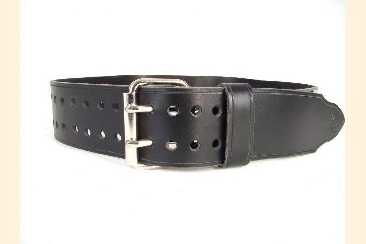 Kilt Belt Black Leather Belt Kilt Belt Double Prong Double Hole Belt