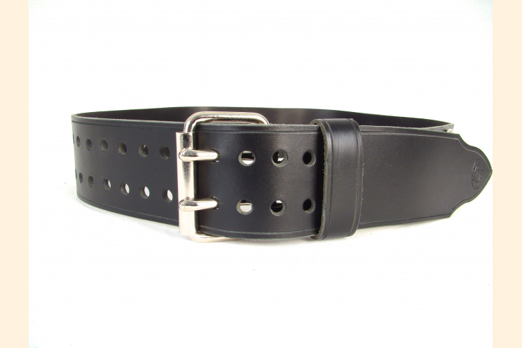 Kilt Belt Black Leather Belt Kilt Belt Double Prong Double Hole Belt