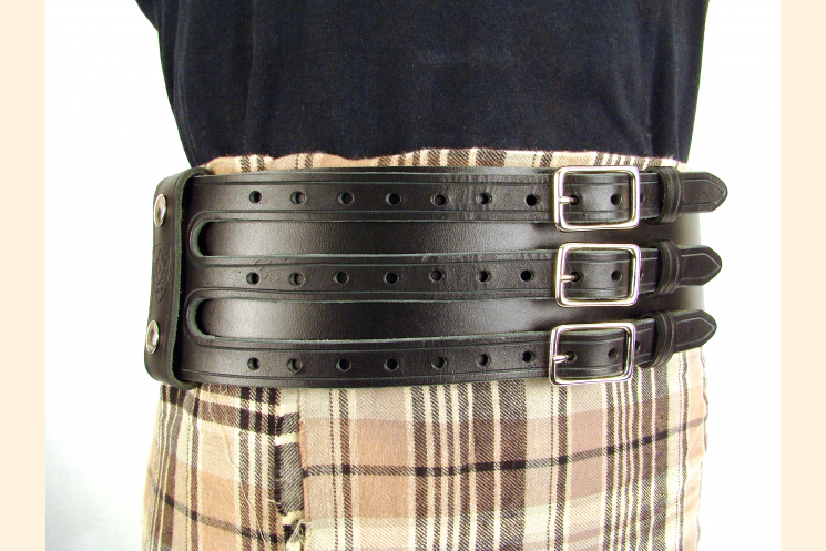 Kilt Belt Triple Buckle Belt Black/NP and  Kilt View