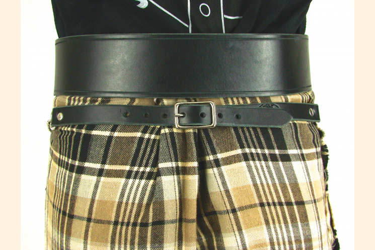 Sporran Belt with Chain Back Kilt View Nickel