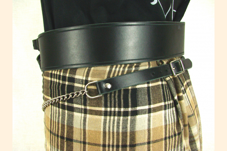Sporran Belt with Chain Side Kilt View Nickel