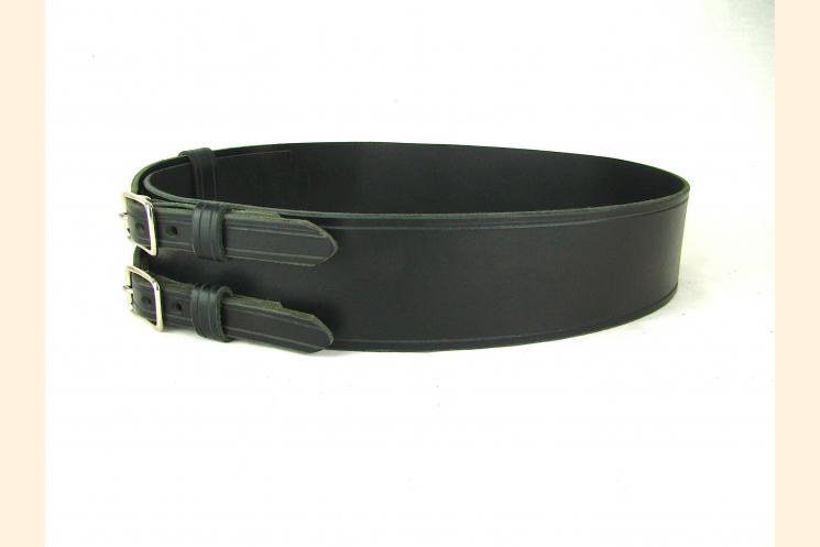 Kilt Belt Double Buckle Standard Black