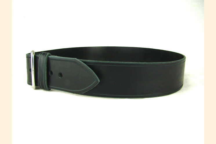Belt Black Leather Belt Wide Belt Kilt Belt Double Bar Buckle