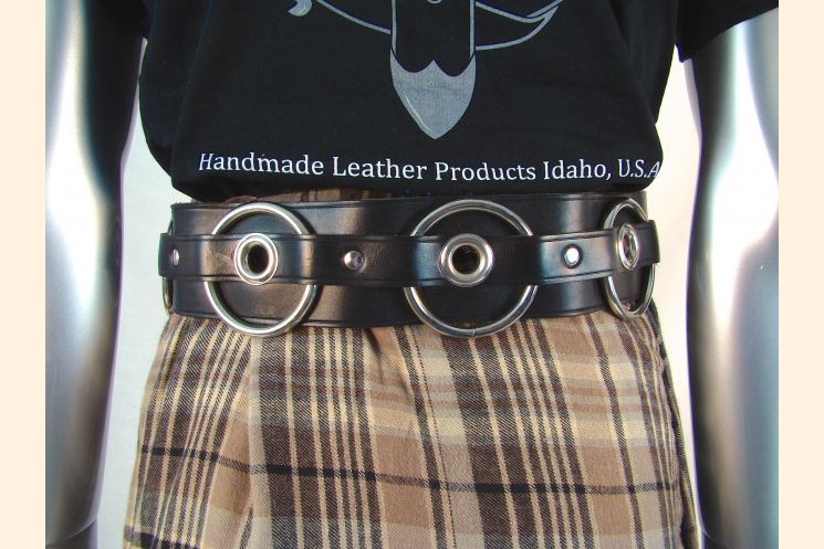 Kilt Belt with Rings and Grommets Kilt Back View