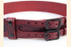 Kilt Belt Red Double Buckle Celtic Heart Knot Left Front View