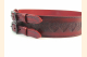 Kilt Belt Red Double Buckle Celtic Heart Knot Right Front View