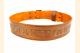 Kilt Belt Double Buckle Copper with Circle Celtic Knot Back View