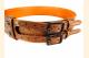 Kilt Belt Double Buckle Copper with Circle Celtic Knot Left Side View