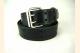 Black Leather Belt Double Prong Buckle Belt