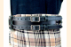 Kilt Belt Double Buckle Belt Black Leather Storage Loop D Ring Combo Belt