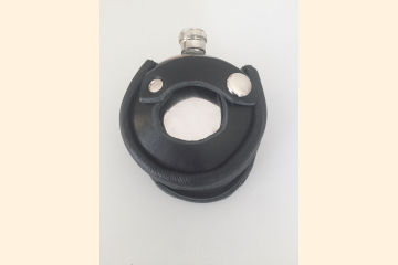 Round Leather Flask Holder with 5 oz Plain Flask