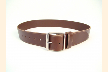 Kilt Belt, Chocolate Brown, Wide Leather Belt