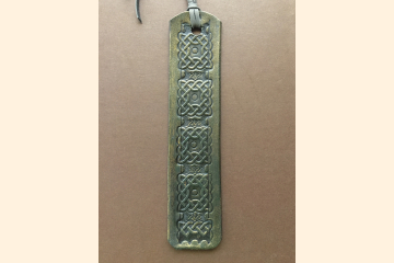 Celtic Bookmark - Green Leather