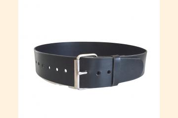 Kilt Belt, Wide Leather Belt, Black