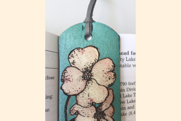 Dogwood Flower White Blossom Leather Bookmark