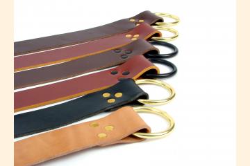 Renaissance Style Leather Ring Belt