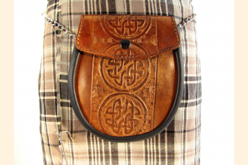 Sporran Copper with Circle Celtic Knot Front View