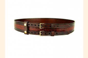 Kilt Belt Leather Double Buckle Kilt Belt Sprocket Belt Steampunk Kilt Belt