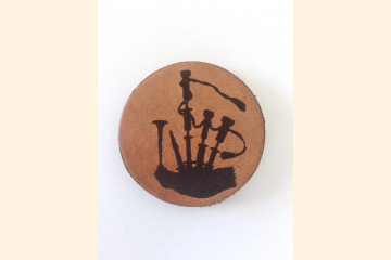 Bagpipes Magnet with White Background