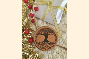 Celtic Tree of Life Magnet with Holiday Background