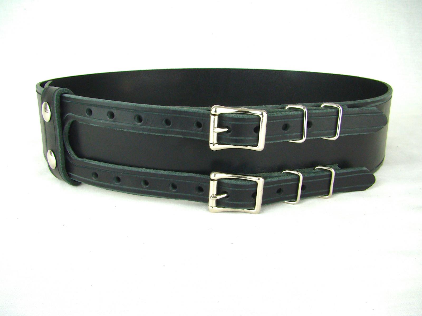 d5f3f979608b0 Kilt Belt Double Buckle Belt Black Leather Belt Basic Double Buckle Ki |  Holy Heck U.S.A.