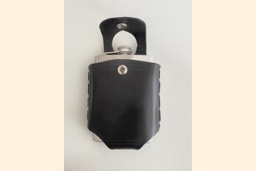 Black Hip Flask Holder - Easy On Off Belt - Whiskey Gift