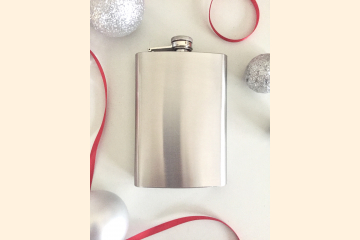 Hip Flask Stainless Steel - 8 Ounce Whisky Container - Scotch Drinkers