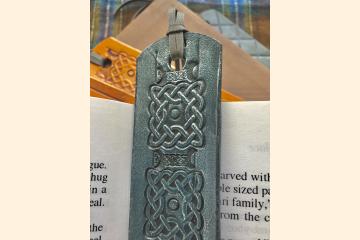 Celtic Bookmark, Something Blue for Bride for Kilt Wedding, Bride Gift from Bridesmaid,