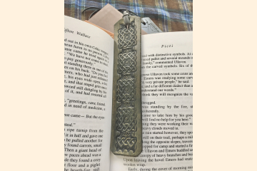 Celtic Bookmark, Third Anniversary Gift for Book Nerd, Leather Anniversary for Him, Husband Gift,