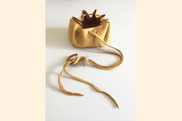 Deerskin Cinch Pouch - Use for Crystals Rocks Marbles Amulets - Stocking Stuffer for Collectors
