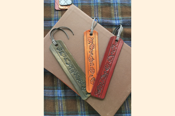 Leather Bookmarks Oak Leaf Acorn Design - Book Lover Gift - Literary Gift - Stocking Stuffer - Christmas Gift