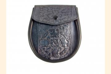 Sporran with Celtic Stone Cross, Belt Bag for Kilt, Scottish Wardrobe Essential Accessory