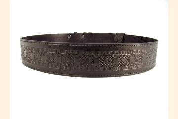 Kilt Belt Double Buckle Kilt Belt Black Celtic Knot Kilt Belt