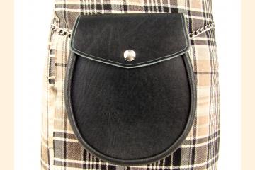 Sporran, Leather Belt Bag for Scottish Kilt, Festival Gear, Birthday Gift for Kilt Men,