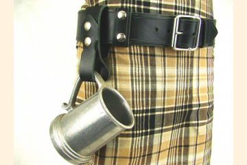 Kilt Belt Black Leather Single Buckle Kilt Belt Vader Cosplay Belt