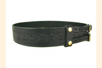 Kilt Belt Double Buckle Kilt Belt Thick Leather Kilt Belt Celtic Knot Belt for Kilt
