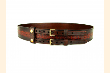 Kilt Belt Leather Double Buckle Kilt Belt Sprocket Belt Steampunk Kilt Belt