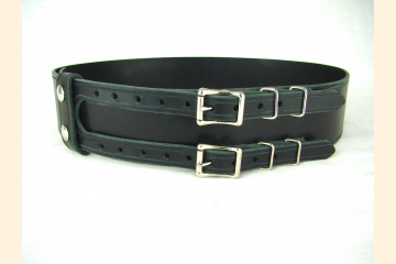 Kilt Belt Double Buckle with Metal Buckle Keepers, Wide Belt for Costumes, For Special Events and Festivals