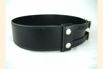 Kilt Belt Double Buckle Belt Black Leather Belt Basic Double Buckle Kilt Belt
