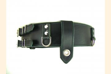 Kilt Belt Double Buckle Belt Black Leather D Ring Belt Pirate Belt Storage Belt