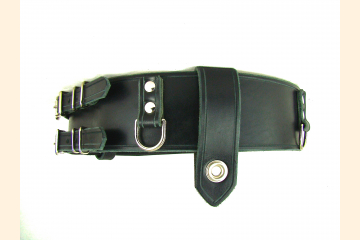 Kilt Belt Double Buckle Belt Black Leather D Ring Belt Pirate Belt Storage Belt